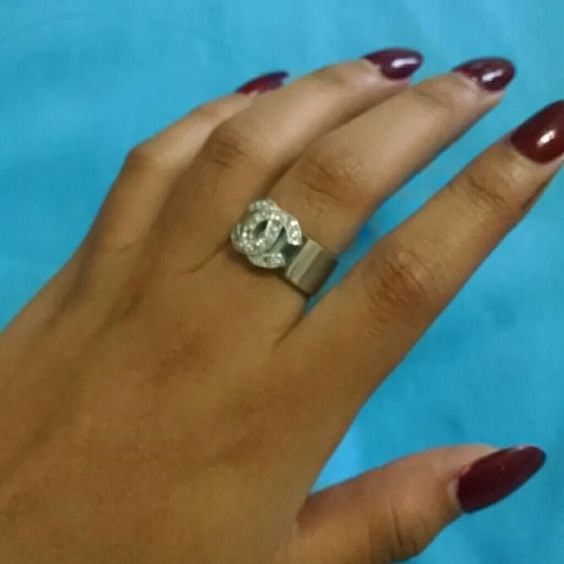 SALE! LOWEST PRICE. Authentic Chanel ring. All Sterling silver and crystals. You won't find a ring like this at this price anywhere else! Price will go back up after 6/25! CHANEL Jewelry Rings