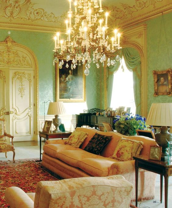 ♜ Shabby Castle Chic ♜  rich and gorgeous home decor - Highclere Castle: