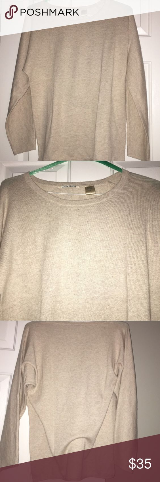Lucky brand 40% cashmere sweater size L Lucky brand 40% cashmere sweater size L Lucky Brand Sweaters Crew & Scoop Necks