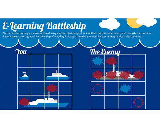 Download this template and blow your learners out of the water - battleship game template