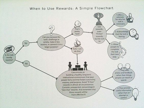 When to use rewards? A simple flowchart from Drive Drive Project - sample flow chart