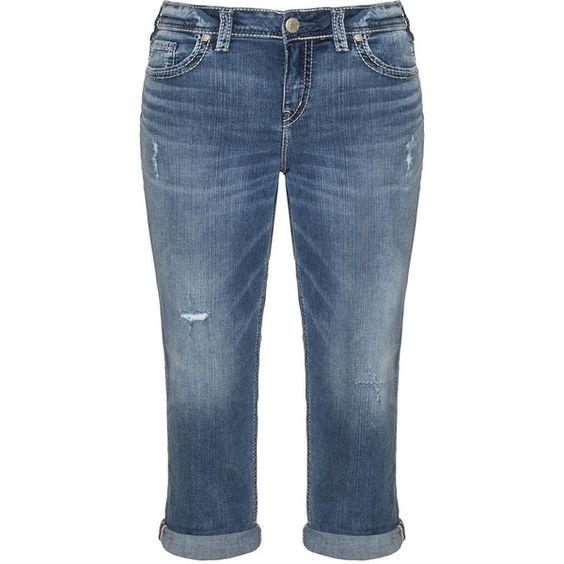Silver Jeans Blue Plus Size Aiko slim fit capri jeans (2.949.715