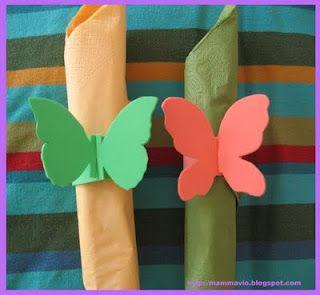 Portatovaglioli con farfalle di gomma crepla