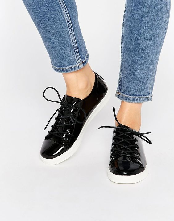 Monki+Minni+Patent+Leather+Shoe