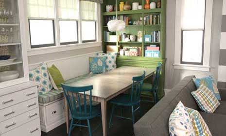 Every inch counts when it comes to a small banquette. Try these smart tips to help your space live larger than its footprint.