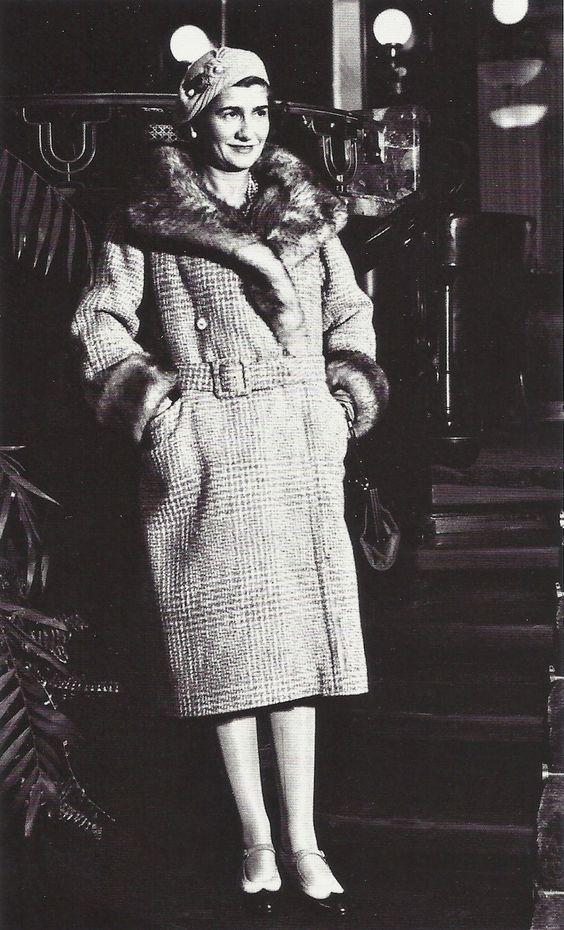 Coco Chanel à New York en 1931, en chemin pour Los Angeles.