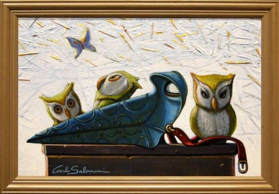 PLAGUE DOCTOR OWLS- (framed)