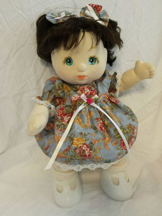 My child doll dress , bloomers and bows