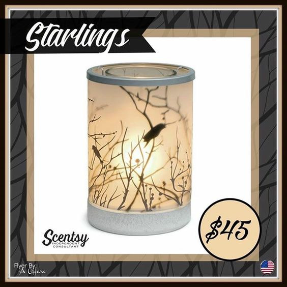 """Scentsy """"Starlings"""" birds  wax warmer new for fall and winter 2016 #wickless…"""