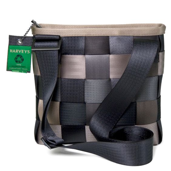 Bags and Purses made out of seat belts.