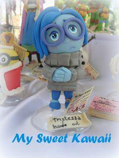 ... My Sweet Kawaii ...: Disney #disney #insideout #tristezza #procellanafredda #pastadimais #collezione #cartonianimati