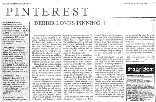 newspaper-DEBBIE LOVES PINNING