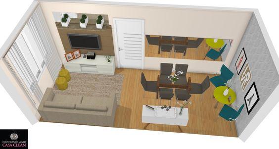 Construindo Minha Casa Clean: Salas Modernas com Papel de Parede! Veja Dicas e Modelos!