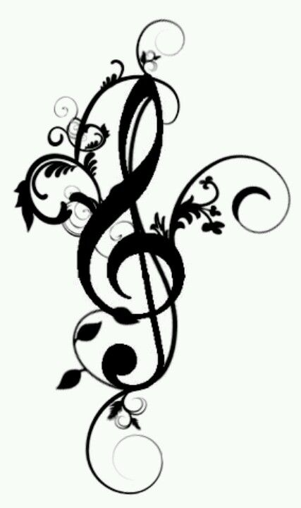 Treble clef tattoo - I want this to be my first tattoo =)