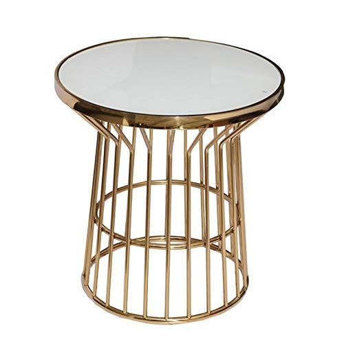 Ms Coffee Tables Metal Round Table Side Table Living Room Bedroom