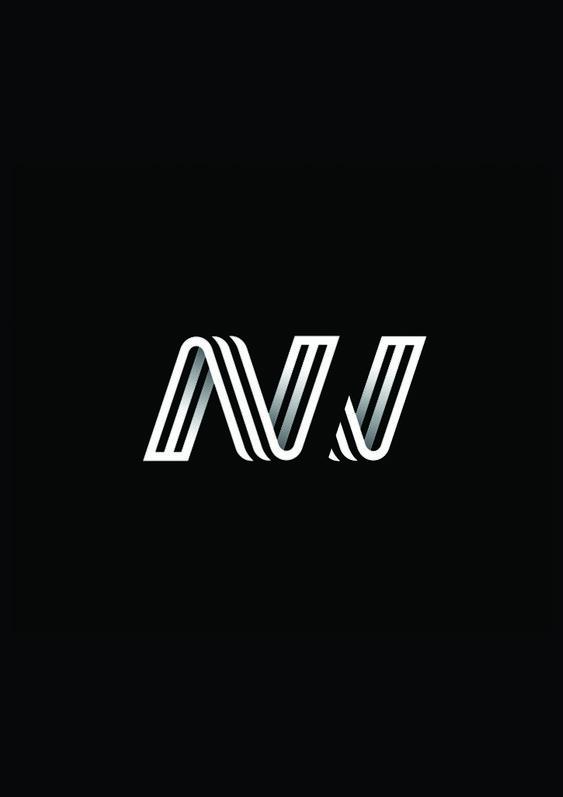 Nj Logo Monogram Logo Monogram Design Logos