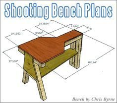 FREE Shooting Bench Plans — Fourteen Do-It-Yourself Designs