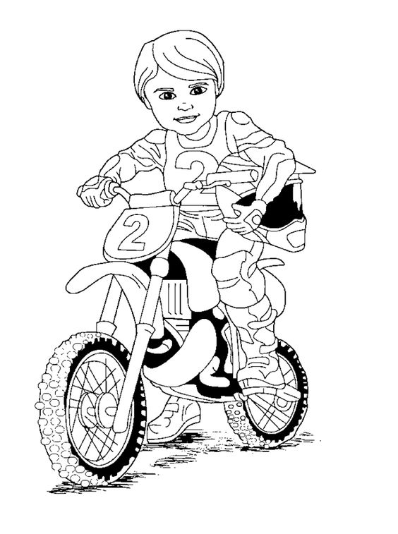 motor bike coloring pages - photo#41