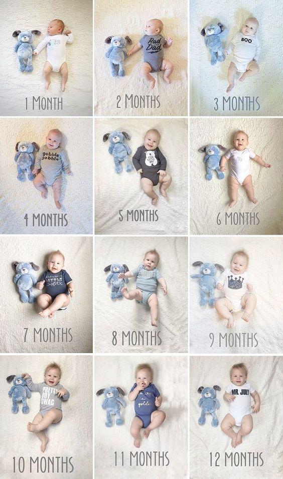 ежемесячные фото ребенка | Впервые мама
