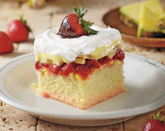 Carrabba's Italian Grill Copycat Recipes: Dessert Rosa ... Cake layered with Pineapple, Strawberries, Bananas, and Pastry Cream.