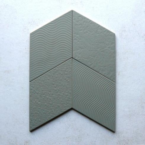 Ruitvormig Relief Decor Mat Groen Wand Vloertegel 14 X 24 Cm Per M2 Vloertegels Wanden Wandtegels