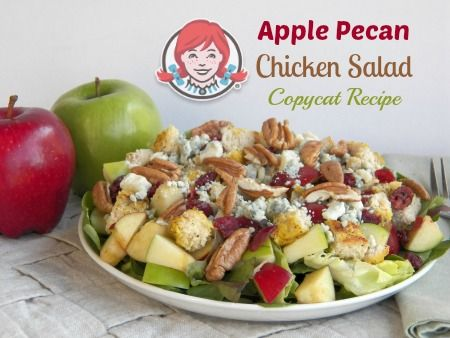 Apple Pecan Chicken Salad is a mix of red and green apples ...