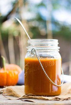 Pumpkin Enchilada Sauce.  A savory seasonal enchilada sauce! (vegan, gluten free)