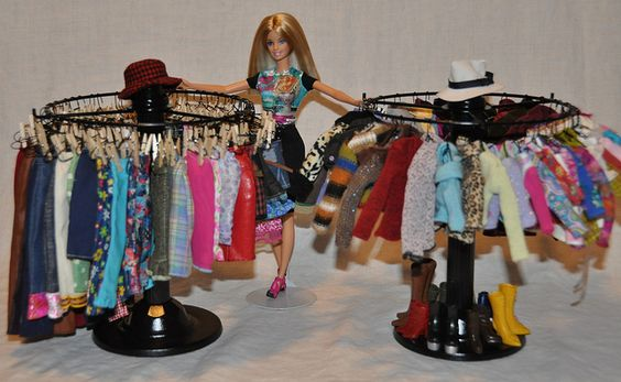 perfectly sized clothing racks (candle holders) from thrif… | Flickr