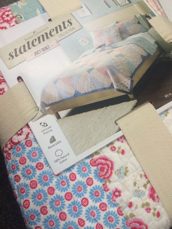 Quilt + design inspiration found! Double sided, patterned quilts for the camper beds...