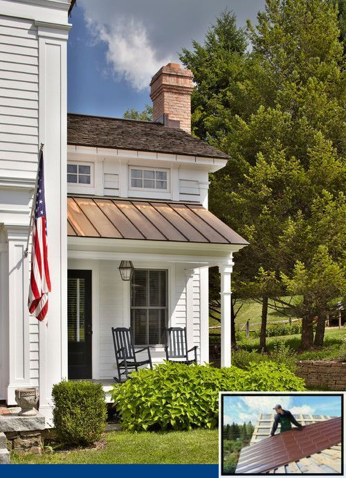 Metal Roof And Stucco Color Combinations And Amish Metal Roofing Colors In 2020 Greek Revival Home Farmhouse Exterior House Exterior