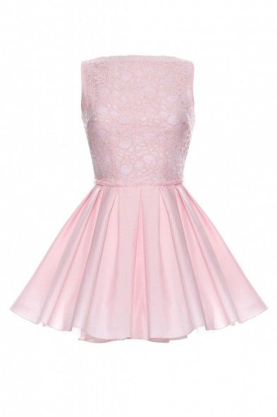 ones and Jones Audrey Dress Pink    The gorgeous scalloped edge floral lace flows along the high neckline a
