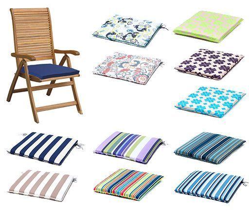 gardenista gold edition garden chair seat cushion pads waterproof