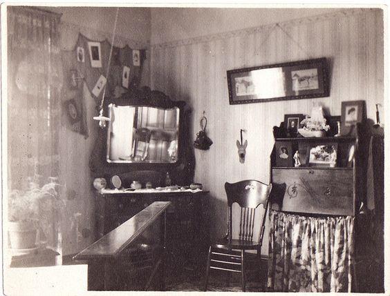 An Actual 1900's Bedroom..interesting Decor...
