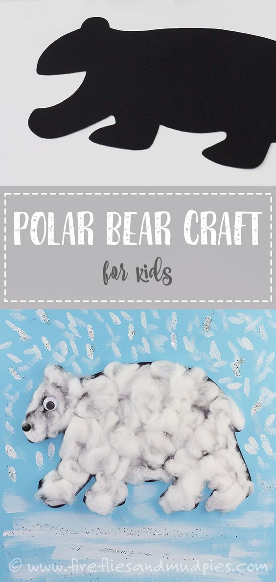 Easy Polar Bear Craft for Kids! Perfect for preschool or Kindergarten!   Fireflies and Mud Pies