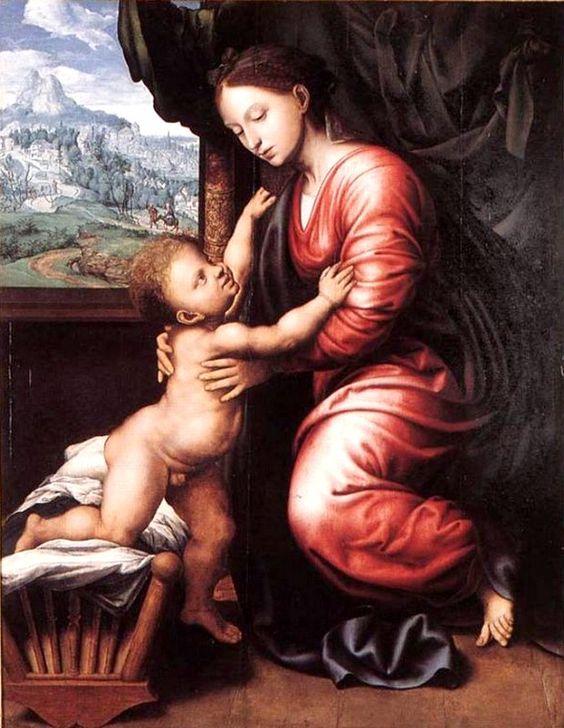 Jan van Hemessen  (1500-1566) —   Virgin with Child  : Groeningemuseum, Bruges. Belgium  (619x800):