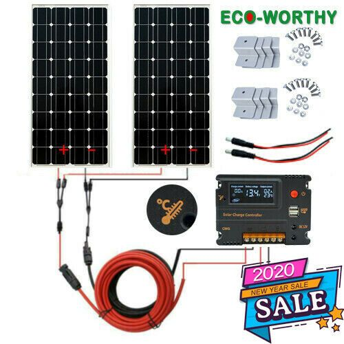 200w Solar Panel Kit In 2020 Solar Panel Kits Solar System Kit Solar Panels