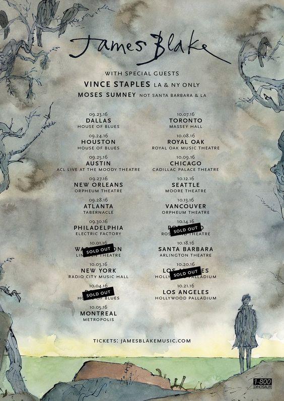 James Blake announces The Colour in Anything Tour dates #jamesblakemusic #vincestaples #mosessumney