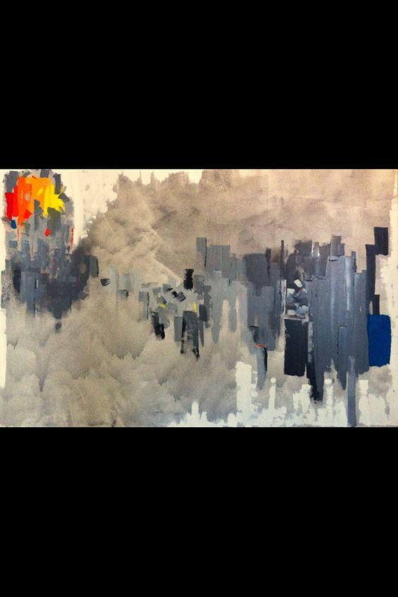 """""""rüzgar"""" 130x200cm tuval üzeri yagli boya / oil on canvas"""