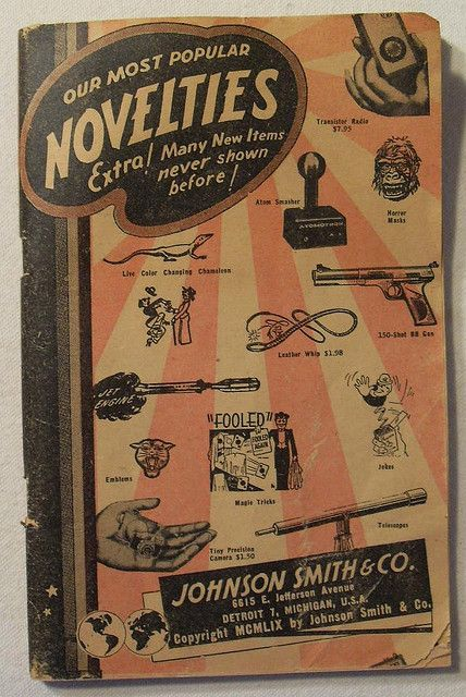 1959 Johnson Smith & Co. Novelties & Toys Catalog Vintage