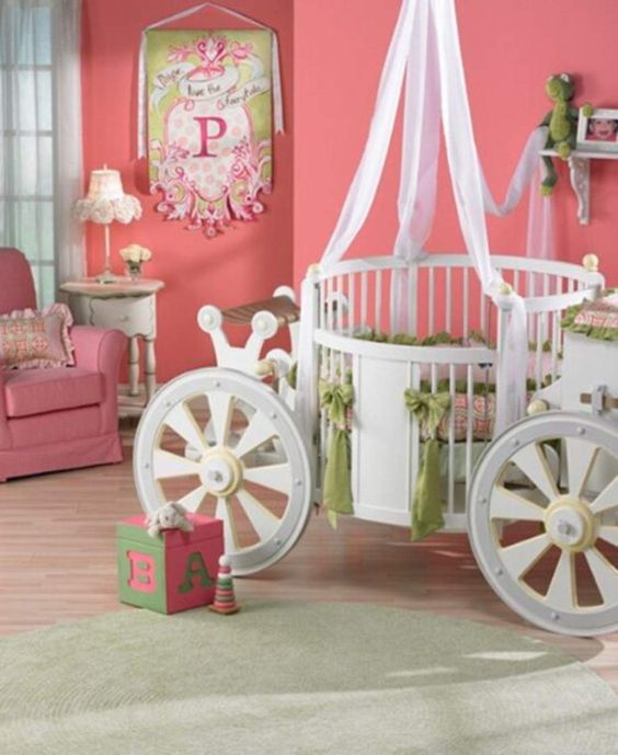 Unique Toddler Beds for Girls | Beds Carriage. Great as a Nursery room