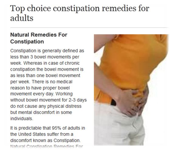1940 adult constipation remedy