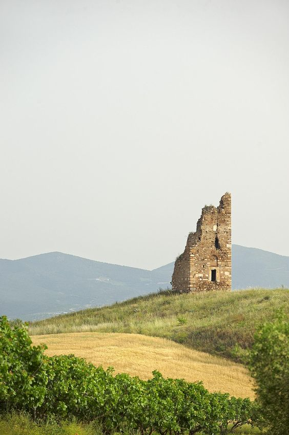 Mariana Tower in Olynthos, Halkidiki, Greece