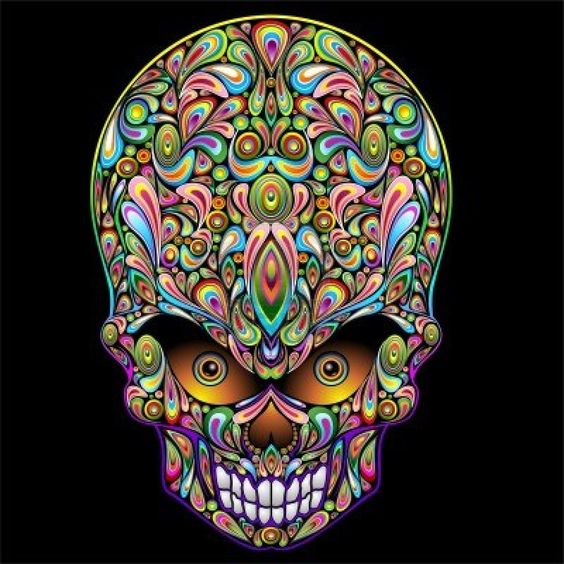 Psychedelic Skull Pop Art Design Royalty Free Cliparts, Vectors, And Stock Illustration. Image 15430237.
