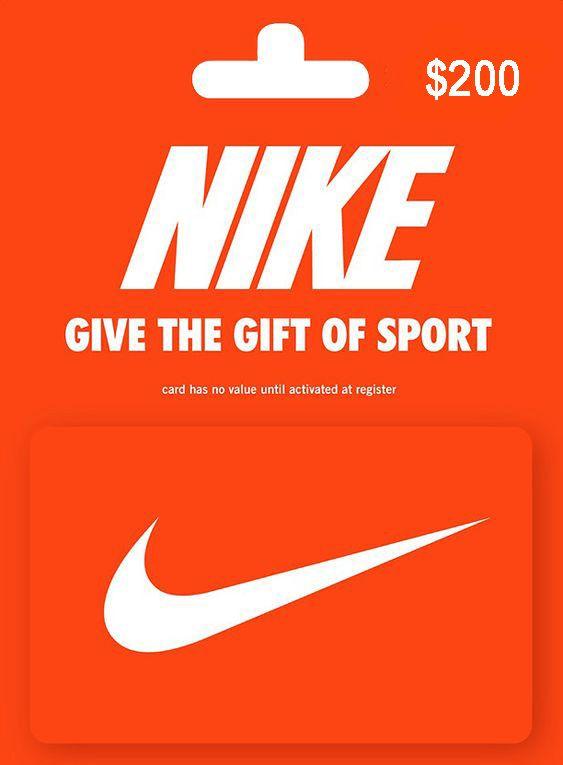 200 Dallar Roblox Gift Card 200 Dollar Nike Gift Card In 2020 Nike Gift Card Nike Gifts Gift Card Balance