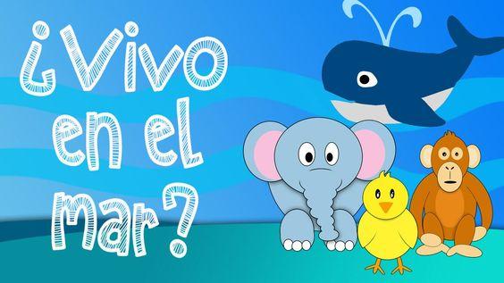 ¿Que animales viven en el mar? - Juego educativo para niños