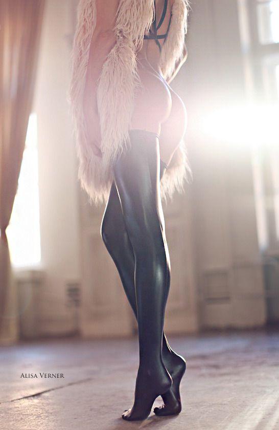 light shimmering on dark leggins