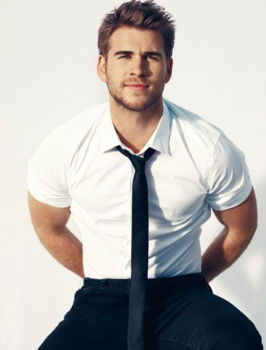 Liam Hemsworth in Details, nice style by the way...