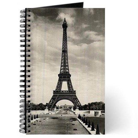 Vintage Eiffel Tower Journal on CafePress.com