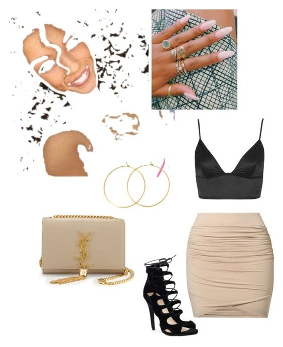 """"""""""" by milleschramm-i ❤ liked on Polyvore featuring by TI MO, Topshop, Charlene K and Yves Saint Laurent"""