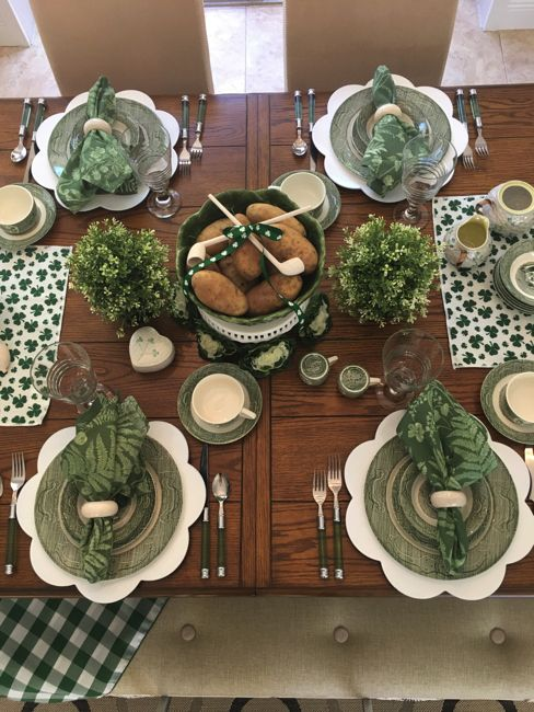 Irish Tablescape for St. Patrick's Day on Me and My Captain